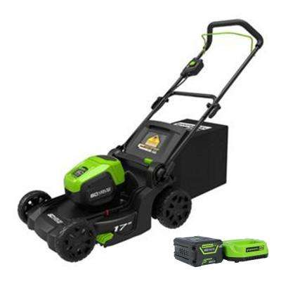 PRO 17 in. 60-Volt Lawn Mower with 4 Ah Lithium Ion Battery and Charger LMC415