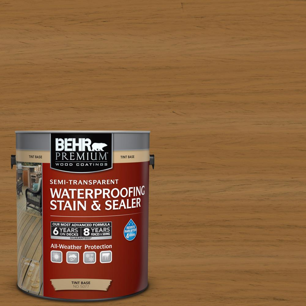 BEHR Premium 1 gal. #ST-146 Cedar Semi-Transparent Waterproofing Stain and Sealer