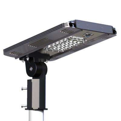 Solar area lights commercial lighting the home depot solar power smart led street light for commercial and residential parking lots bike paths aloadofball Gallery