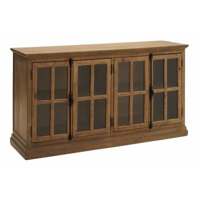 Loupin Brown Solid Wood Console