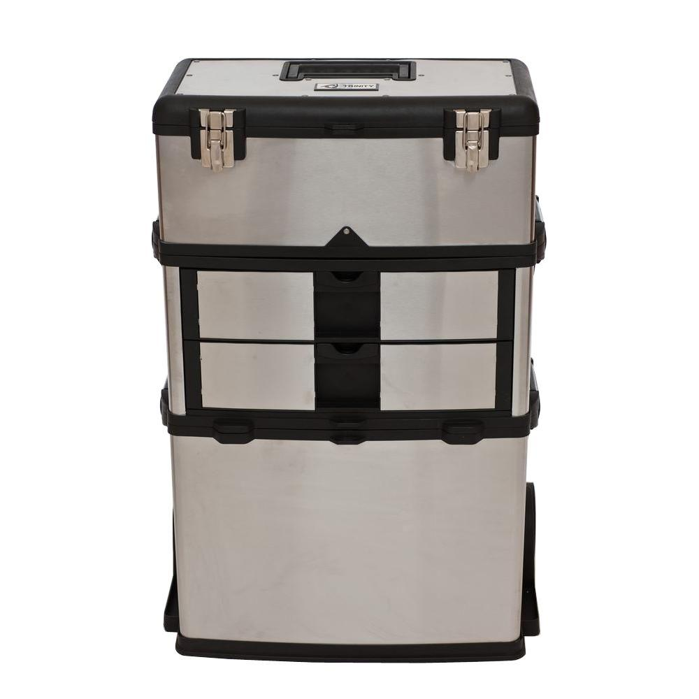 High Quality W Stainless Steel 3 In 1 Suitcase Tool Box