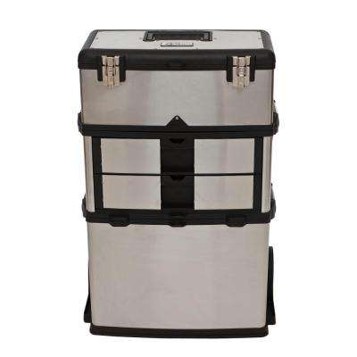 21.5 in. W Stainless Steel 3-in-1 Suitcase Tool Box