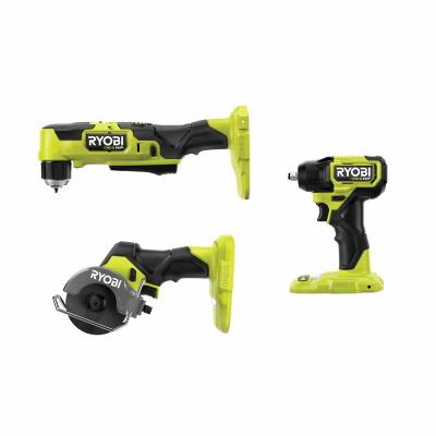 ONE+ HP 18V Brushless Cordless Compact 3/8 in. Right Angle Drill, 3/8 in. Impact Wrench, and Cut-Off Tool (Tools Only)