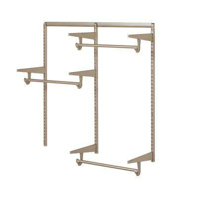 Closet Culture 4 ft. 16.875 in. D x 48 in. W x 48.5 in. H Steel Closet System Hardware Kit in Champagne Nickel