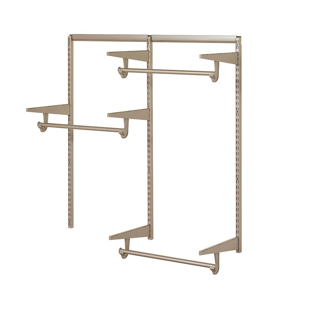 Closet Culture 4 Ft. Closet Hardware Kit In Champagne Nickel 0300 KITA 4CN    The Home Depot