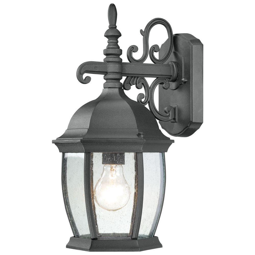 Covington 1-Light Black Outdoor Wall-Mount Lantern