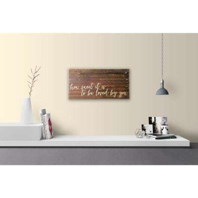 "Reclaimed Steel Metal Wall Art ""HOW SWEET IT IS"" Decorative Sign"