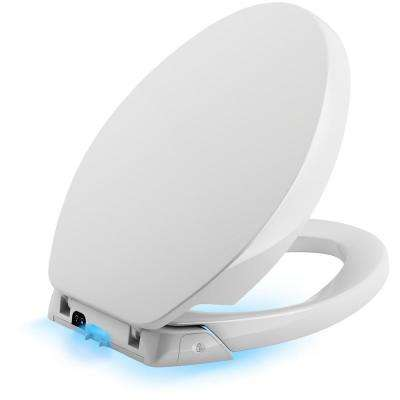 Purefresh Elongated Closed Front Toilet Seat in White