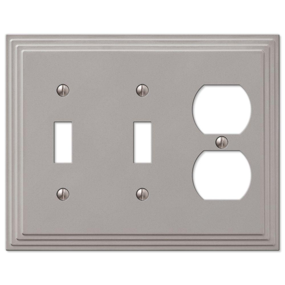 Hampton Bay Steps 2 Toggle 1 Duplex Wall Plate Nickel