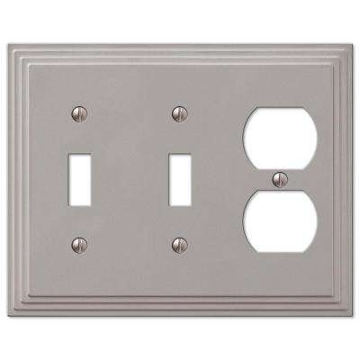 Steps 2 Toggle 1 Duplex Wall Plate - Nickel