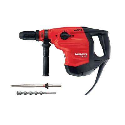 120-Volt SDS-MAX TE 70-AVR Corded Concrete Rotary Hammer Drill  with Pointed Chisel and TE-YX SDS-MAX Style Drill Bit