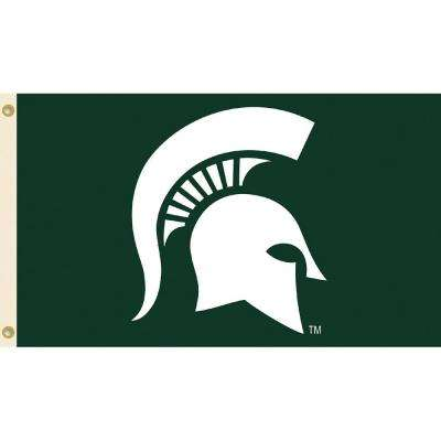NCAA Michigan State University 3 ft. x 5 ft. Collegiate 2-Sided Flag with Grommets