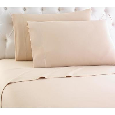 Micro Flannel 4-Piece Chino Solid Queen Sheet Set