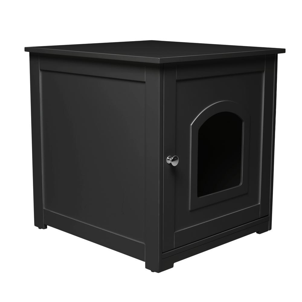 Black Kitty Loo Litter Box Cover