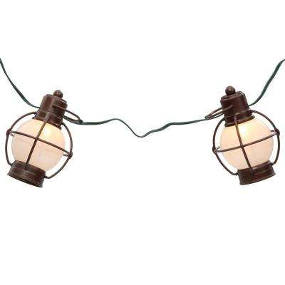 Patio Lights 7-Light Antique Copper Incandescent Rustico String Lanterns