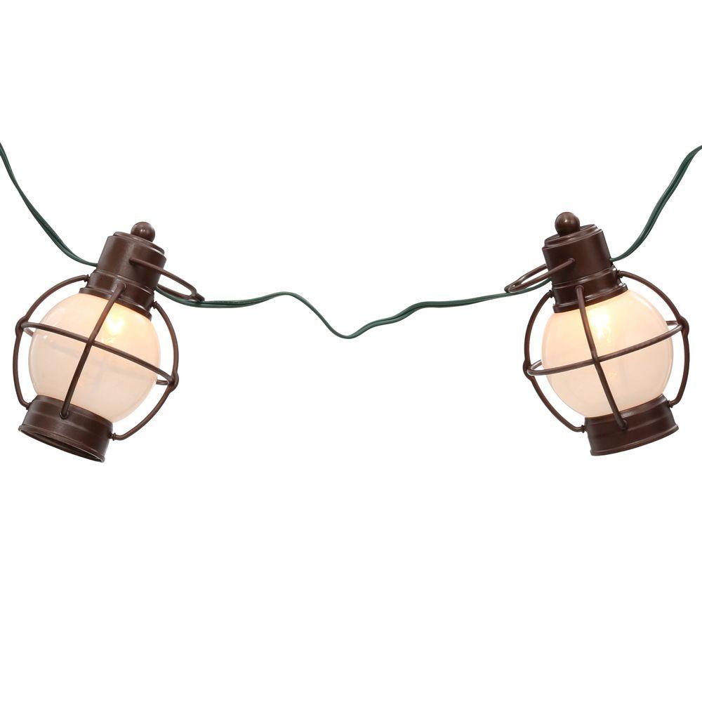 Patio Lights 7-Light Antique Copper Incandescent Rustico String Lanterns