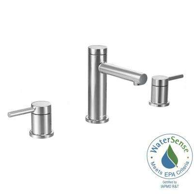 Align 8 in. Widespread 2-Handle Bathroom Faucet Trim Kit in Chrome (Valve Not Included)