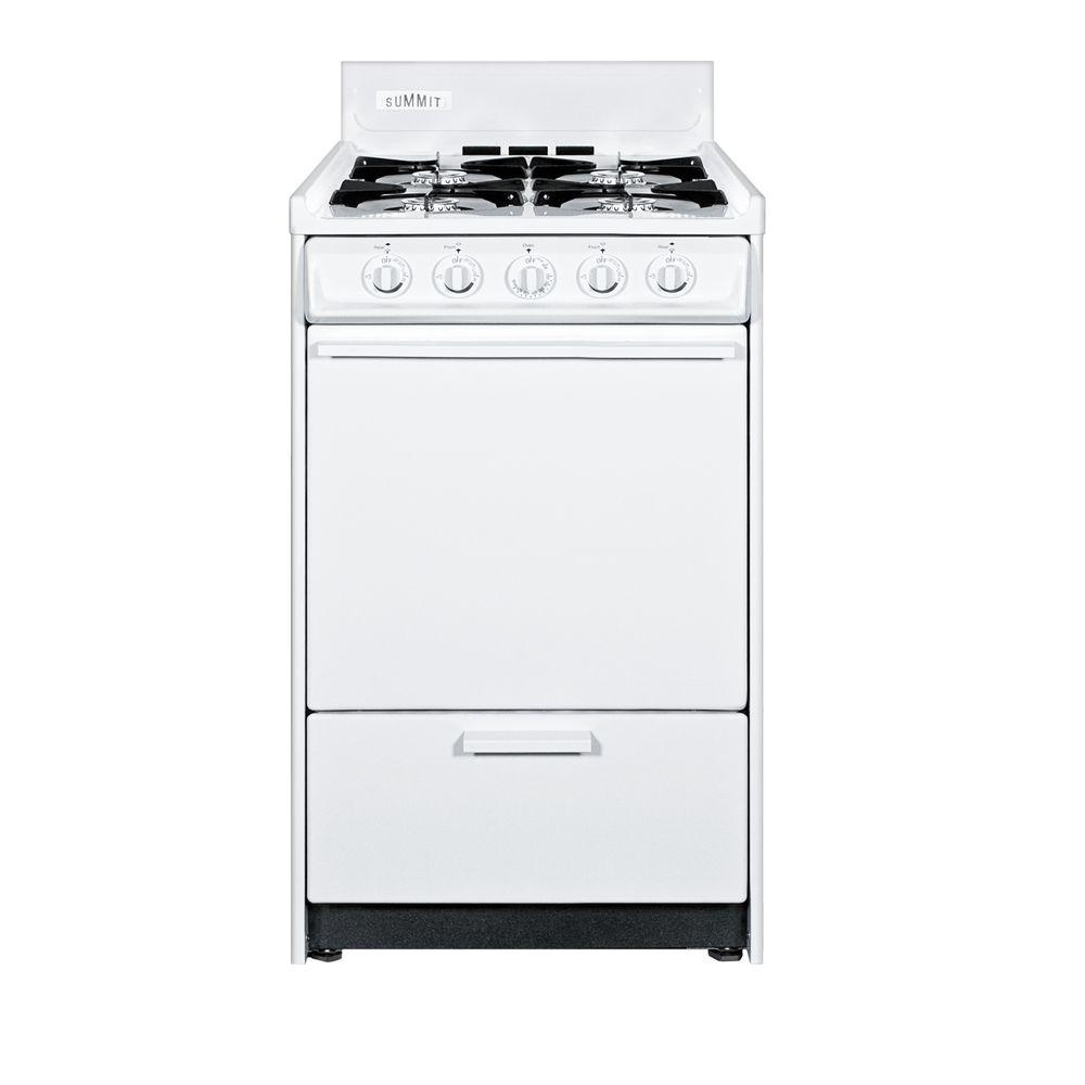 Summit Appliance 20 in. 2.46 cu. ft. Gas Range in White