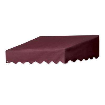 4 ft. Traditional Non-Retractable Door Canopy (50 in. Projection) in Burgundy