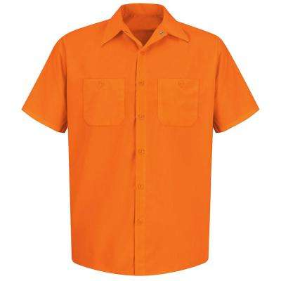 Men's Size XL Fluorescent Orange Enhanced Visibility Work Shirt