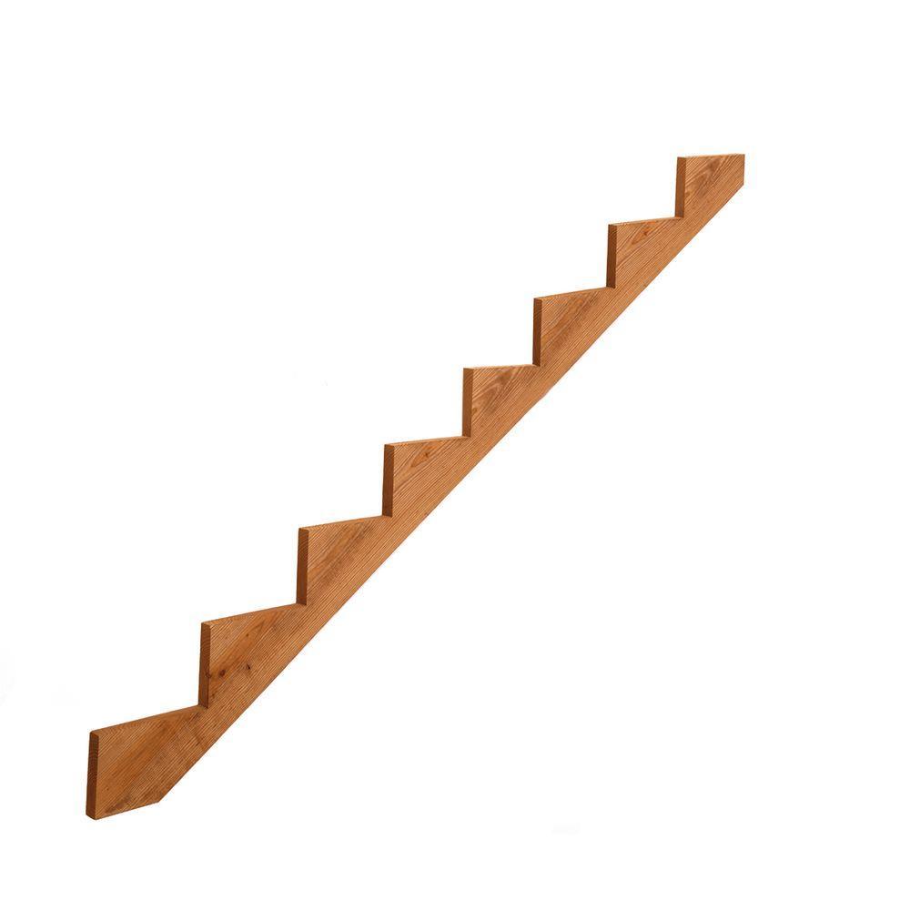 8-Step Pressure-Treated Cedar-Tone Pine Stair Stringer
