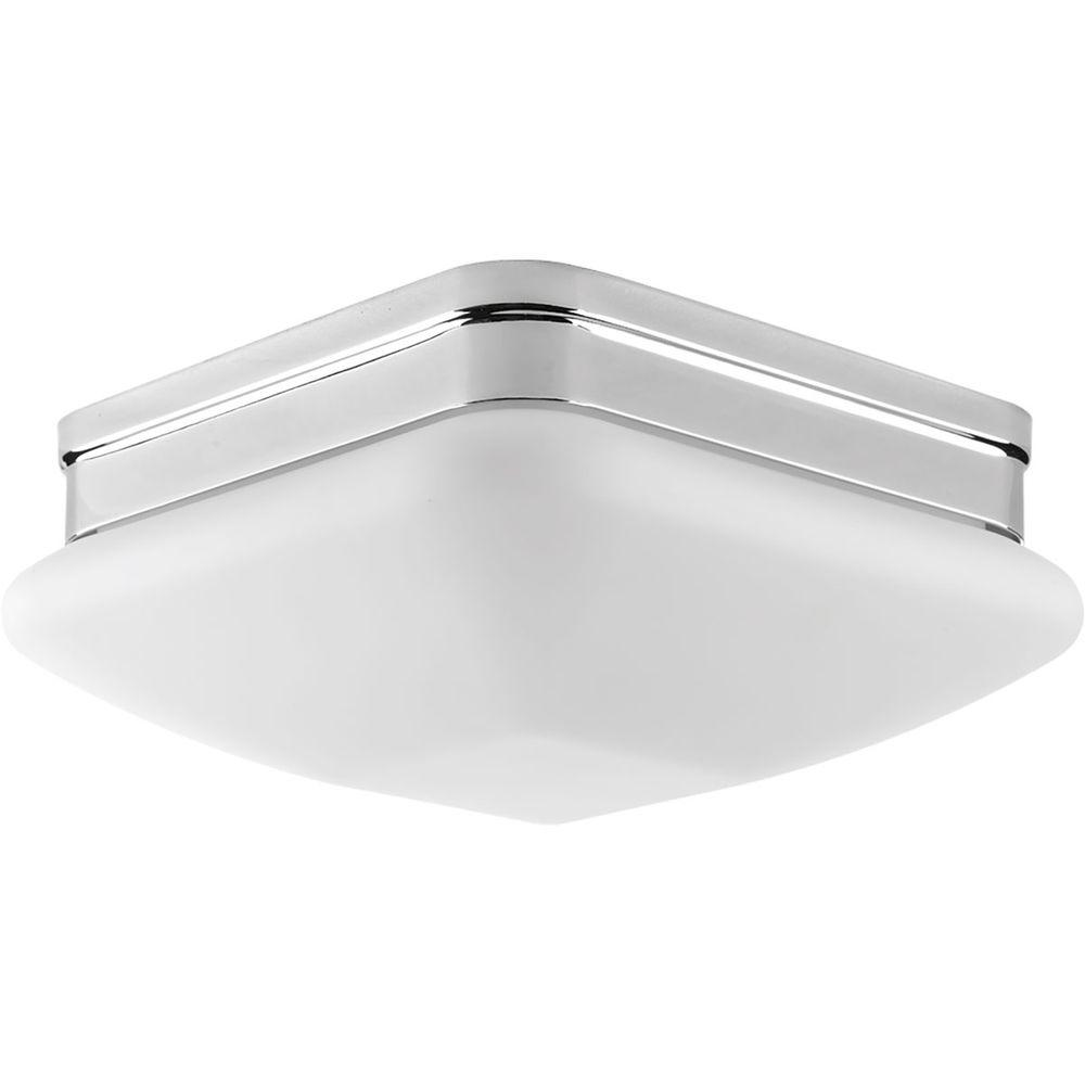 Progress Lighting Appeal Collection 2 Light Polished Chrome Flushmount With Etched Opal Glass P3549 15