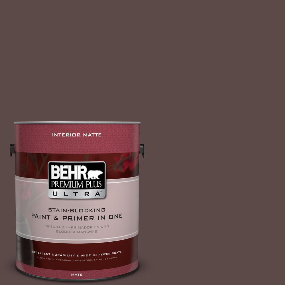 1 gal. #740B-7 Smooth Coffee Flat/Matte Interior Paint