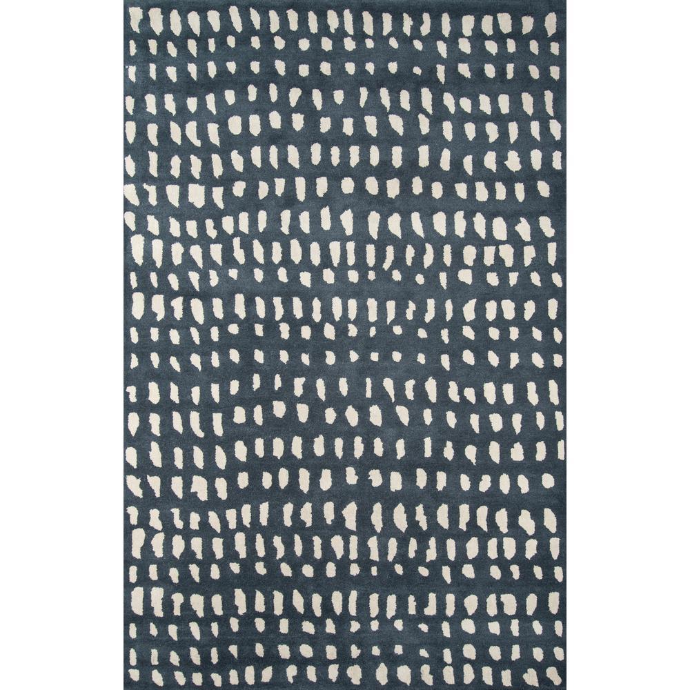 Boho Dots Blue 8 ft. x 10 ft. Indoor Area Rug
