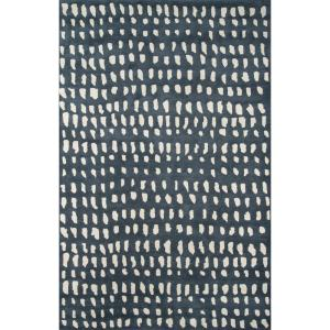 Boho Dots Blue 9 ft. x 12 ft. Indoor Area Rug by