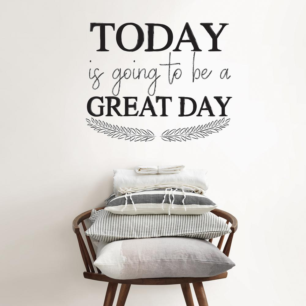 WallPOPs Black Great Day Wall Quote Decal