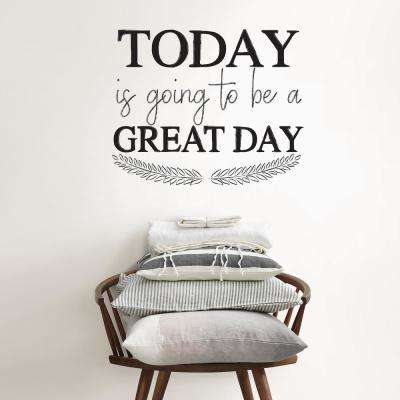 Black Great Day Wall Quote Decal