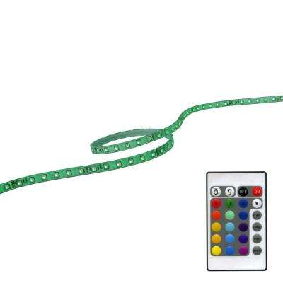 39 in. RGB LED Flextape Light with Plug-In Driver and Remote Controller
