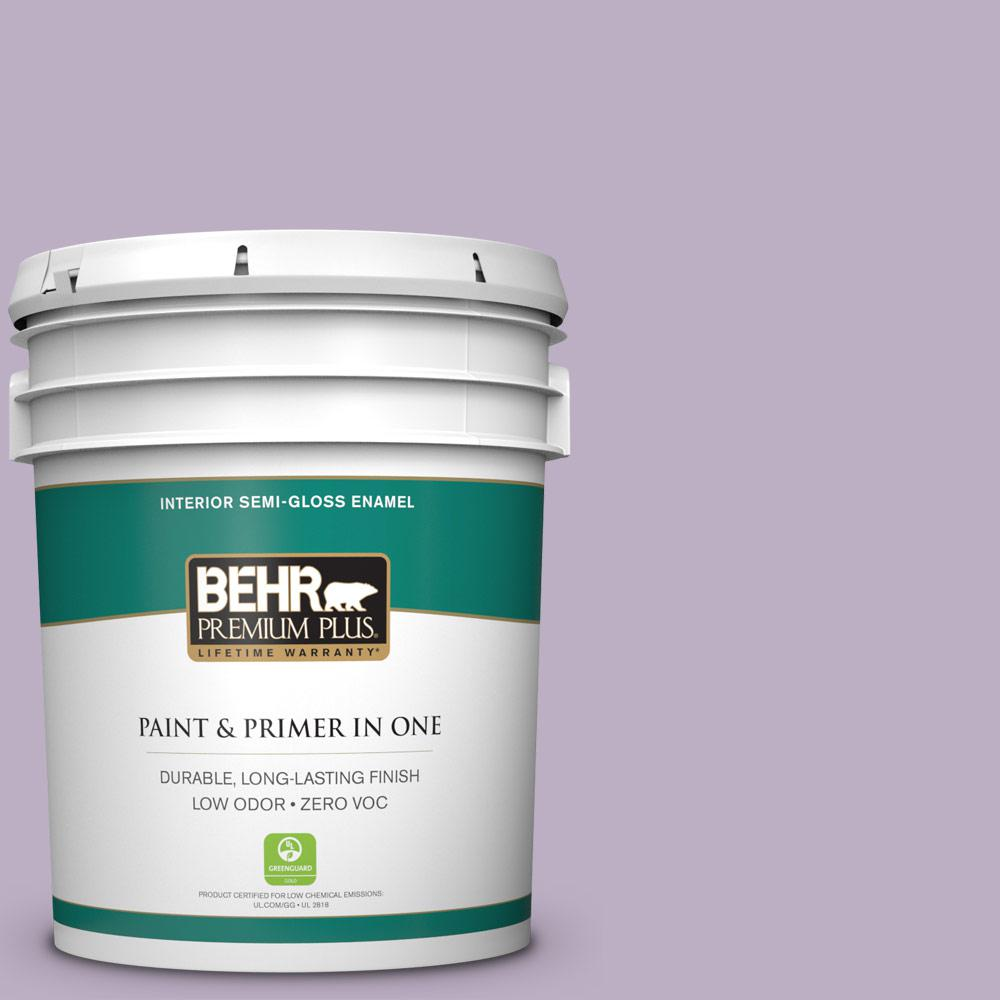 5-gal. #S100-3 Courtly Purple Semi-Gloss Enamel Interior Paint