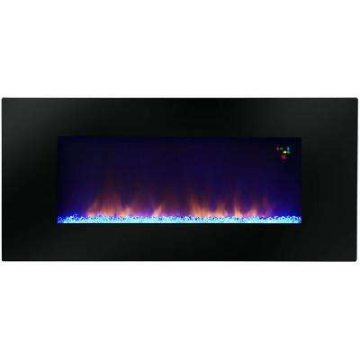 Amazon 48 in. Widescreen Wall-Mounted LED Fireplace with Remote