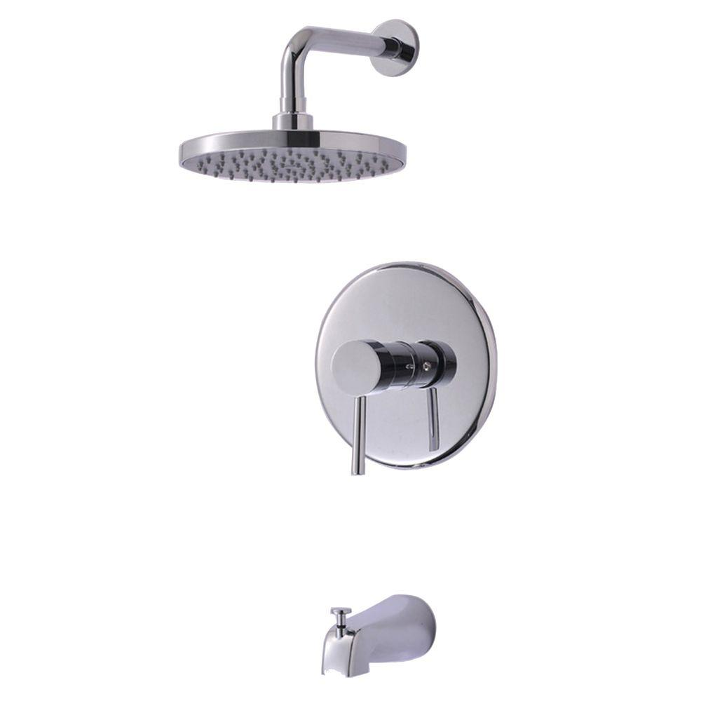 Ultra Faucets Euro Collection Single-Handle 1-Spray Tub and Shower ...
