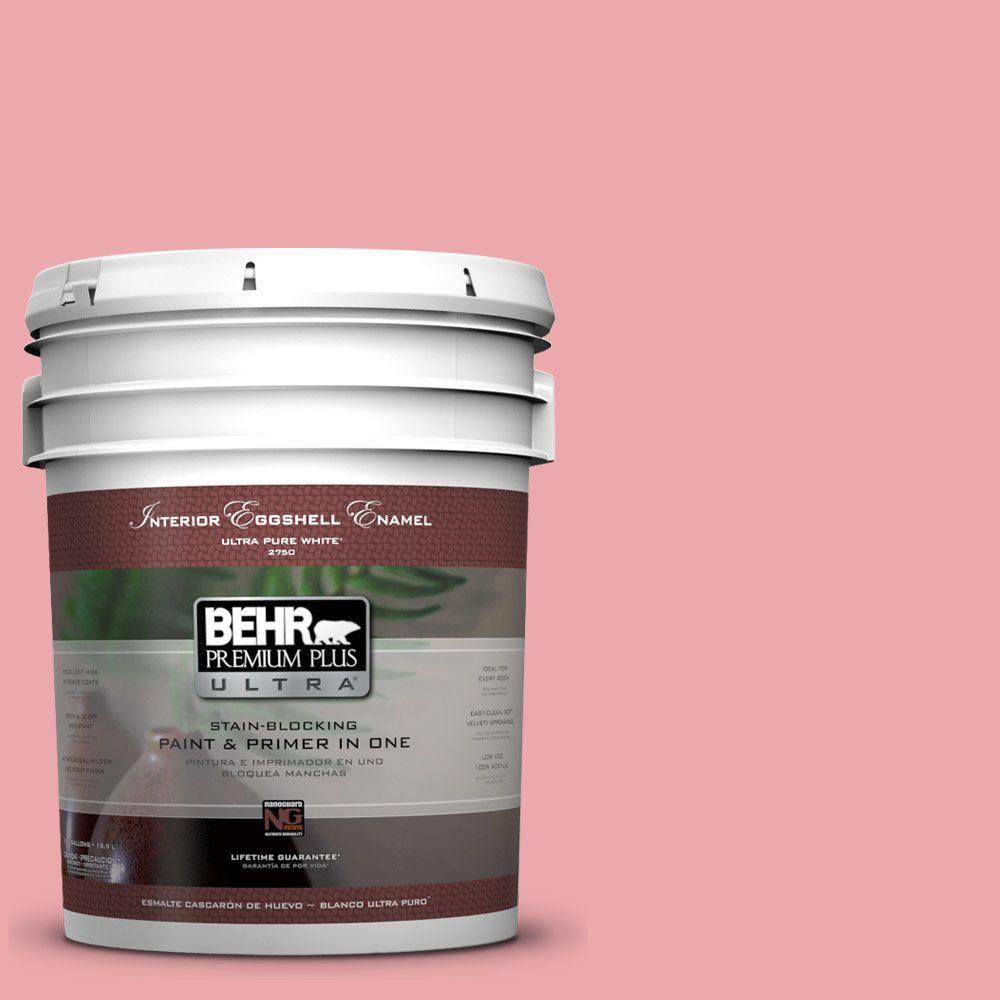 BEHR Premium Plus Ultra 5-gal. #140C-3 Hibiscus Petal Eggshell Enamel Interior Paint
