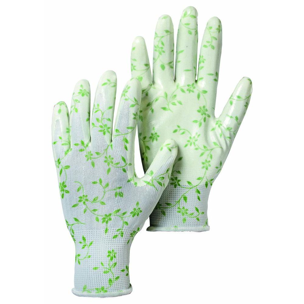 Hestra JOB Garden Dip Size 7 Small Form-Fitting Nitrile Dipped Gloves in White