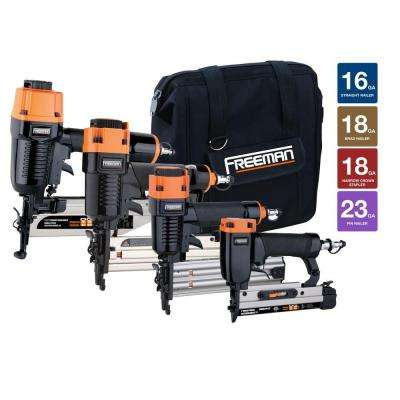 Pneumatic Finishing Nailer Kit with Canvas Bag (4-Piece)