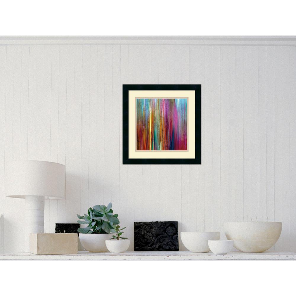 """18 in. H x 18 in. W """"Sunset Falls I"""" by John Butler Framed Art Print"""
