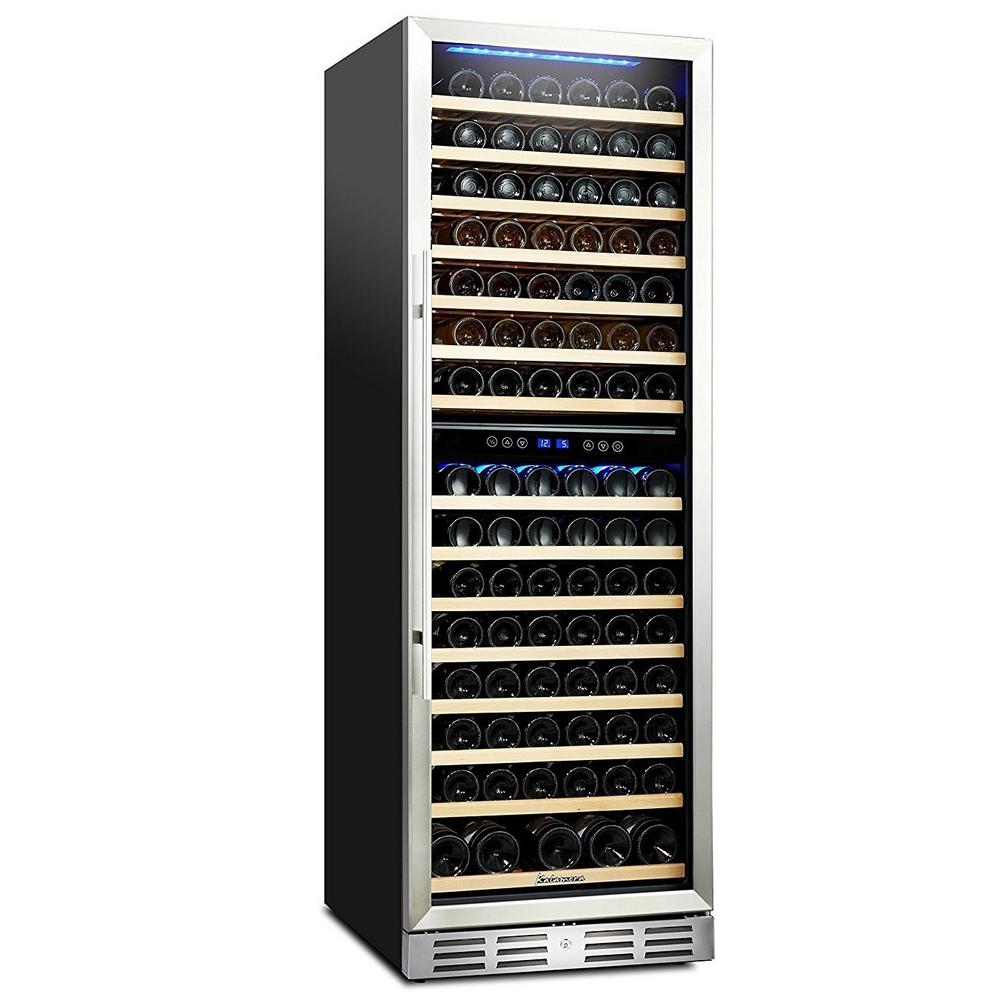 Kalamera 157 Bottle Built In Wine Refrigerator With One Touch Control With Led Display Krc 157dzb The Home Depot