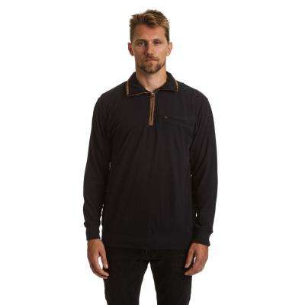 Men's 2X-Large Navy Long Sleeve Quarter Zip Pullover