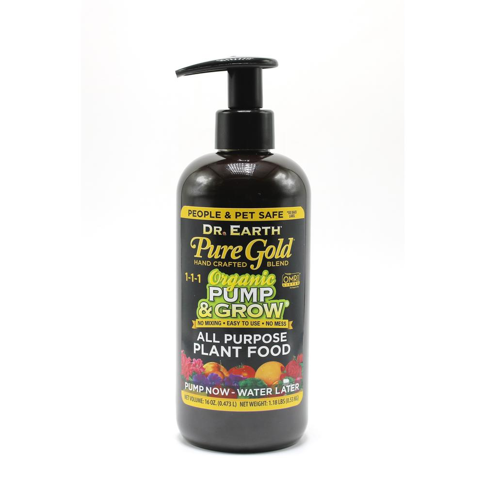 16 Oz Organic Pump And Grow Pure Gold All Purpose Plant