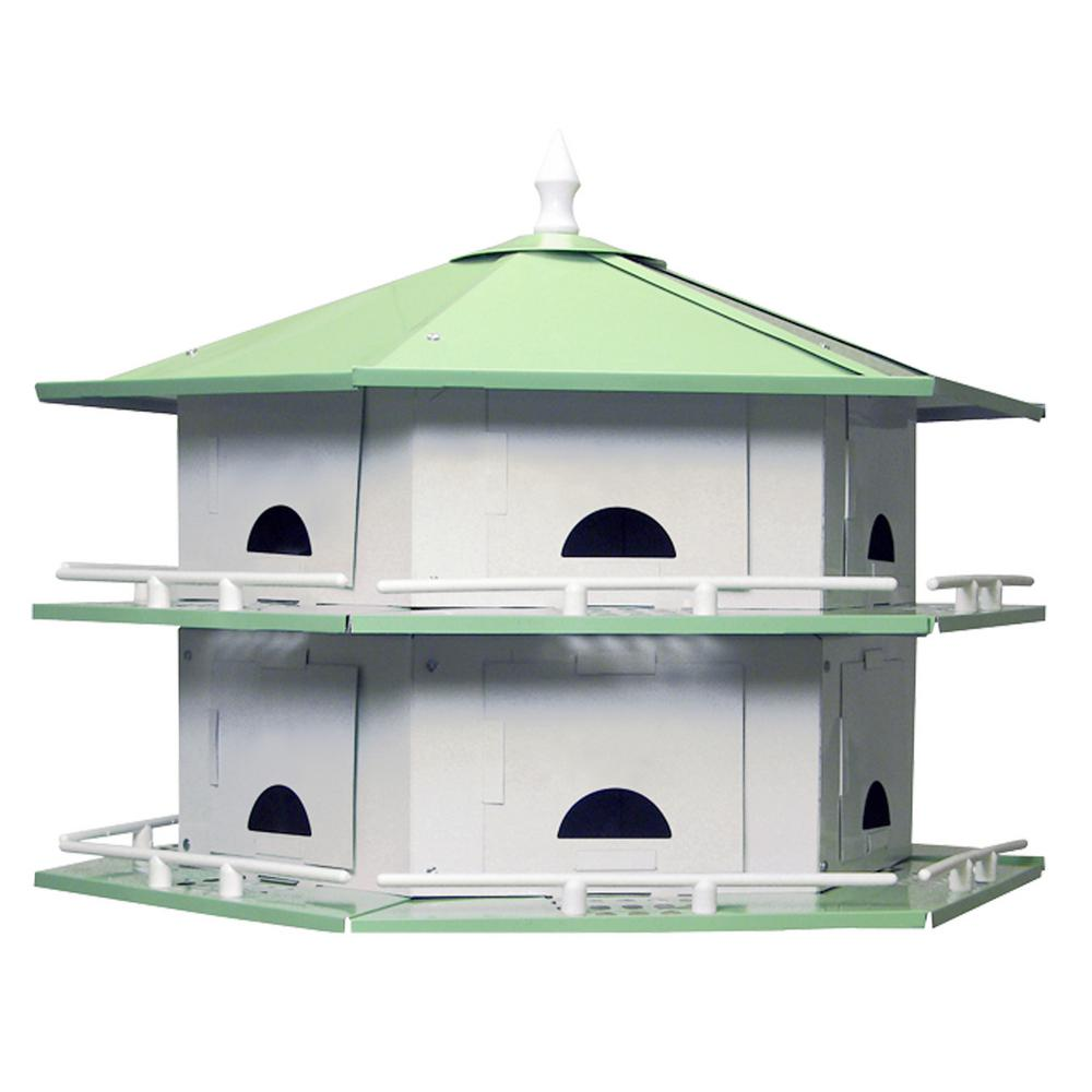 Heath 12 room starling resistant aluminum purple martin for Martin house designs