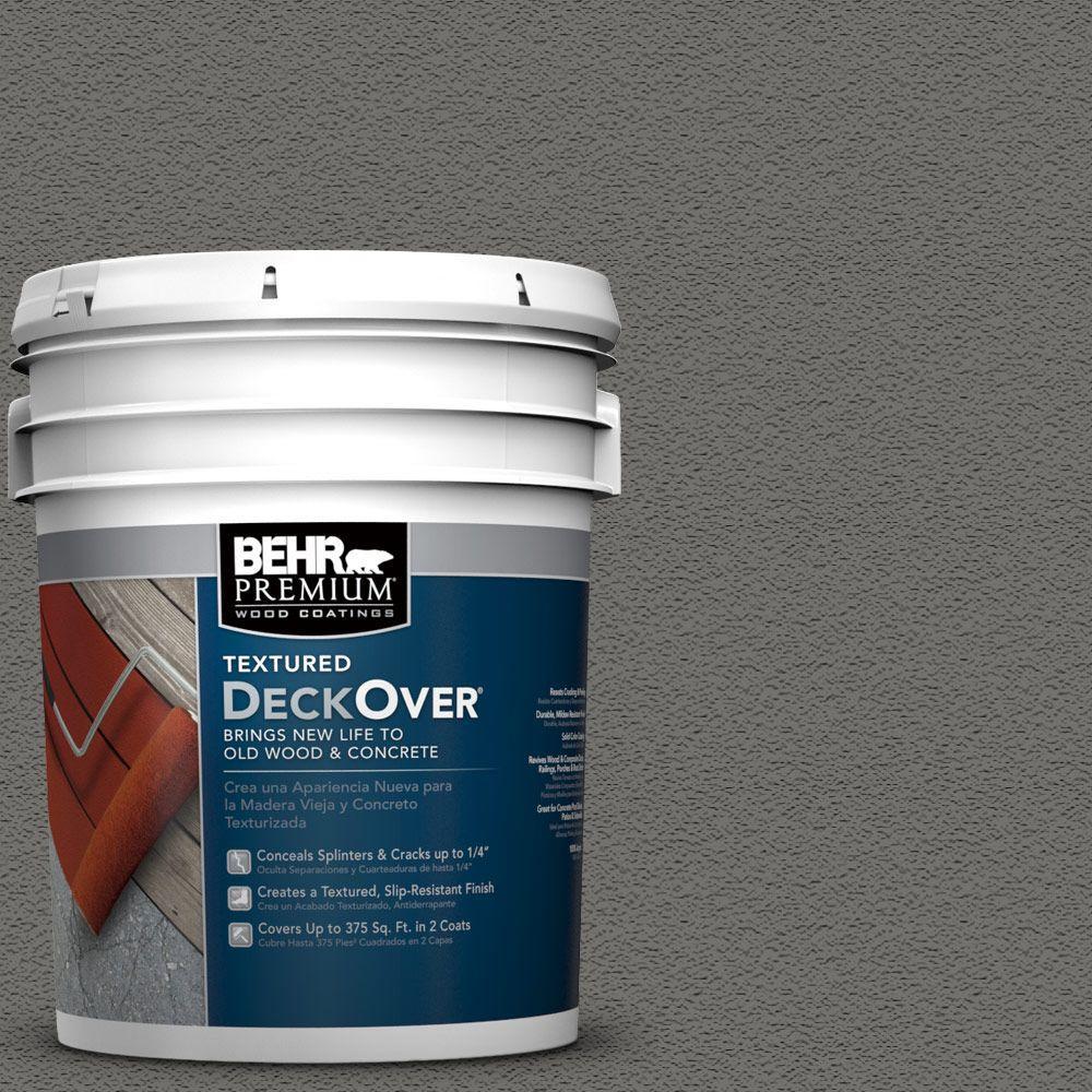 Behr premium textured deckover 5 gal sc 131 pewter wood - Exterior textured paint home depot ...