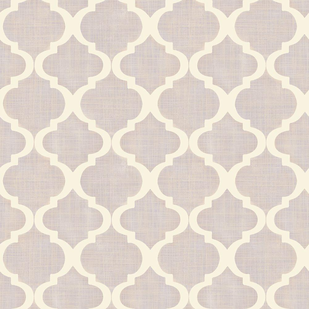 Chesapeake Tabitha Lavender (Purple) Watercolor Quatrefoi...