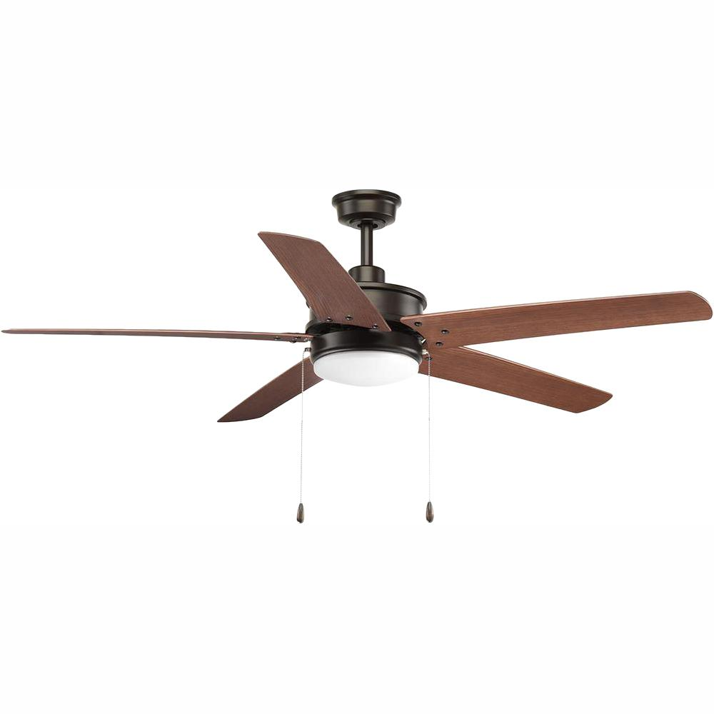 Progress Lighting Whirl Collection 60 in. LED Antique Bronze Indoor/Outdoor Ceiling Fan