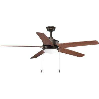 Whirl Collection 60 in. LED Antique Bronze Indoor/Outdoor Ceiling Fan