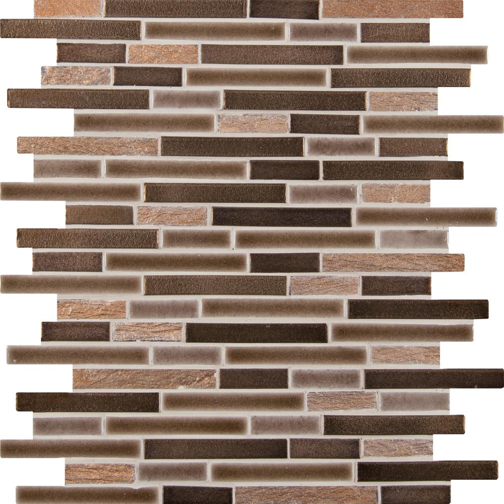 Msi Triton Interlocking 12 In X 8mm Porcelain Stone Mesh Mounted Mosaic Floor And Wall Tile Spil Triton8mm The Home Depot