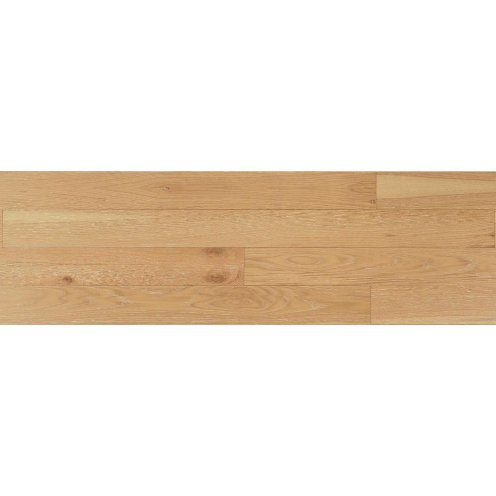 1/4 in. x 5.1 in. x Varying Lengths Wheat HDF White Oak Shiplap Wall Plank (20.3 sq. ft./Carton)