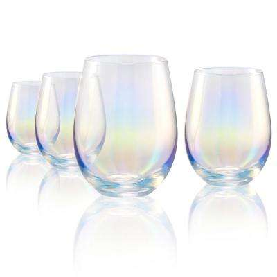 16 oz. Stemless Wine Glasses in Clear (Set of 4)